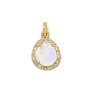 Diamond and Moonstone Pendant