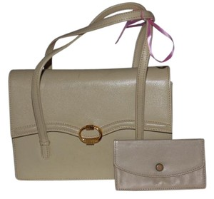 Gucci 1960's Mod 'kelly' Style Satchel in ivory texured leather
