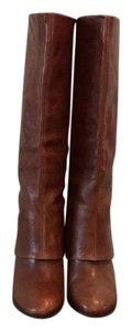 Steven by Steve Madden Distressed Leather Brown Boots