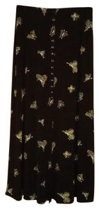 EZ Town Pencil Butterfly Maxi Skirt Black