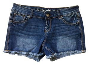 Buffalo David Bitton Cut Off Shorts Dark Blue Denim