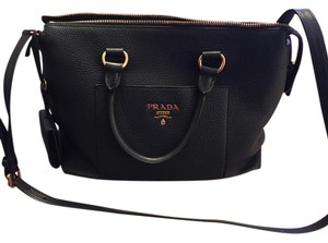 Prada New Leather Tote in Navy Blue