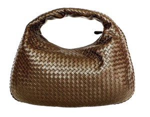 Bottega Veneta Brown Chocolate Intrecciato Shoulder Bag