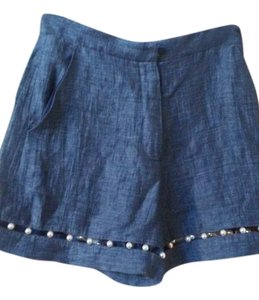 Adam Selman Dress Shorts Blue