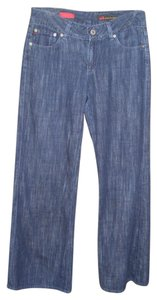 AG Adriano Goldschmied Dark Wash Dark Wash Trouser/Wide Leg Jeans-Dark Rinse