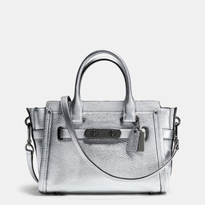 Coach Satchel in Silver
