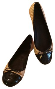 Tory Burch Black and natural Flats