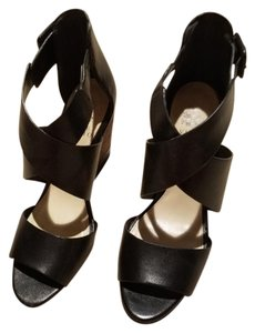 Vince Camuto black with brown wedge Wedges