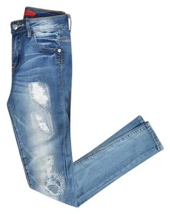 Signature 8 Skinny Jeans-Distressed