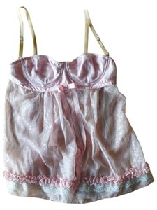 Dolce&Gabbana Lingerie Dolce Silk Lace Top Soft Pink