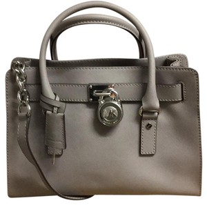 MICHAEL Michael Kors Satchel in Pearl Gray