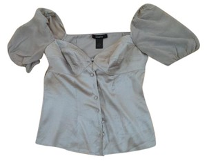 Arden B. Silk Top gray