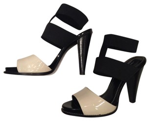 Linea Paolo High Heel Sexy Black and White Sandals