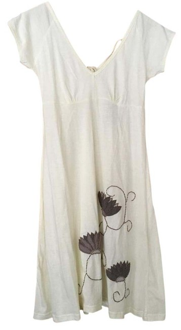 Item - Pale Yellow Cotton Above Knee Short Casual Dress Size 4 (S)