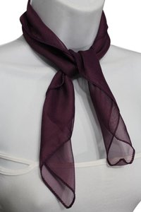 Other Chic Women Sheer Fabric Neck Tie Scarf Pocket Square Classic Purple