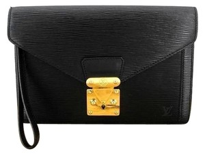 Louis Vuitton Sellier Vintage Black Clutch