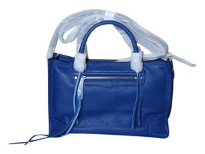 Rebecca Minkoff Leather Spacious Structured Satchel in Cobalt (Blue)