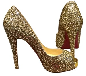Christian Louboutin Wedding Formal Gold Platforms