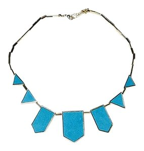 House of Harlow 1960 Turquoise Suede House of Harlow 5 Station Necklace