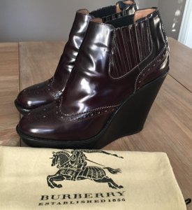 Burberry Wedge Burgundy Boots