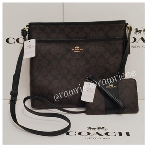 Coach Monogram Classic Set Matching Set Gift Set Black Messenger Bag