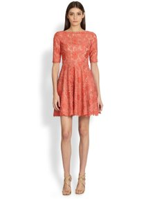Monique Lhuillier Lace Party Wedding Cocktail Dress