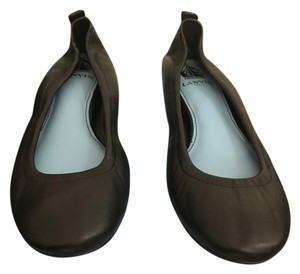 Lanvin Leather Ballerina Black Flats