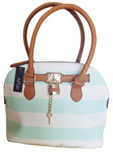 Apartment 9 Striped Snakepattern Satchel in Mint