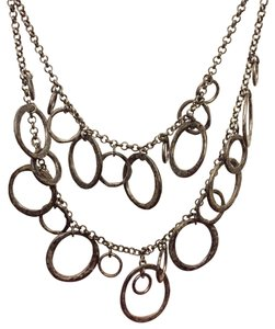 Express Express Statement Collar Black Metal Necklace