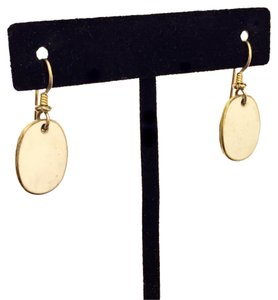 Laurel Burch Laurel Burch Inlay White Oval Dangle Gold Tone Earrings