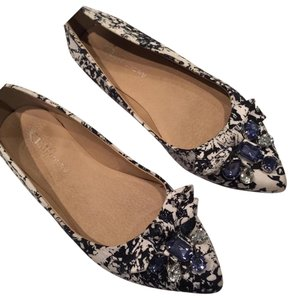 CL by Laundry Navy/White Flats