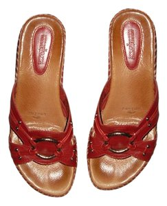 Minnetonka Red Sandals