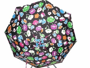 Coach Coach Exploding Wildflower Black Multi Large Automatic Umbrella, 65810