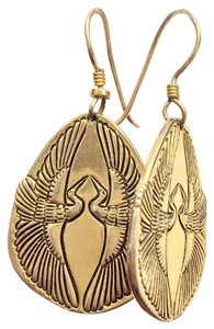 Laurel Burch Laurel Burch Rare Gold Dangle Earrings Bird Design