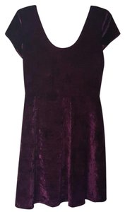 Rue 21 short dress Purple Velvet on Tradesy