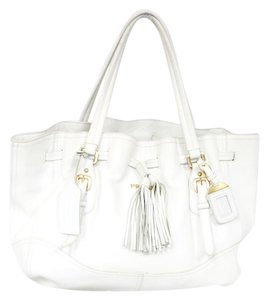 Prada Saffiano Luxxe Shopper Satchel in White
