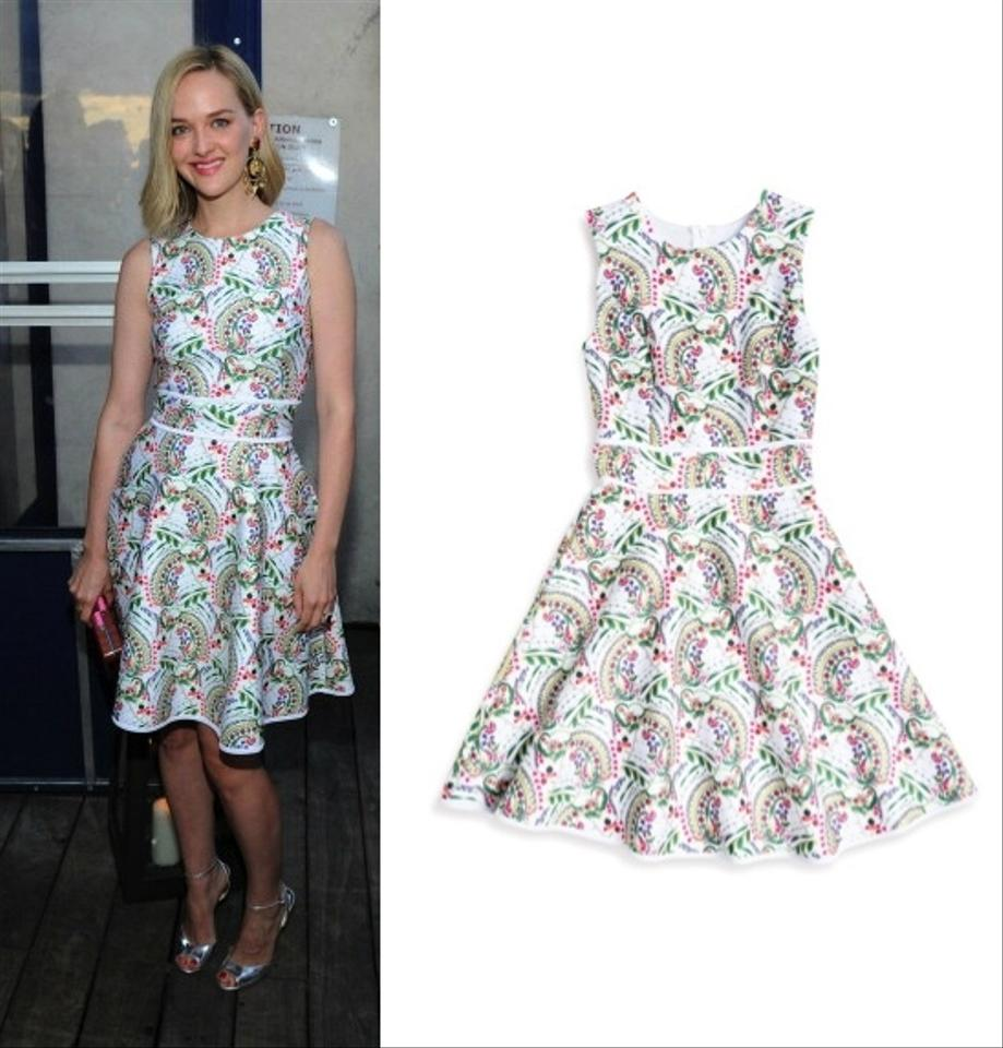 Cynthia Rowley Floral Print Knee Length Cocktail Dress Size 4 (S ...