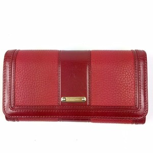 Burberry Red Leather Logo Wallet