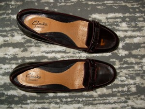 Clarks Red Patent Pumps