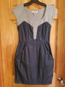 BCBGeneration short dress denim and grey on Tradesy