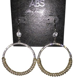 A.B.S. by Allen Schwartz NWT ABS Allen Schwartz Crystal Hoop Earrings
