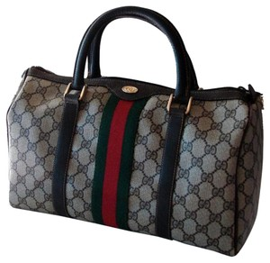Gucci Vintage Monogram Satchel in Brown