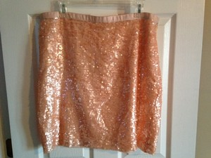 Ann Taylor LOFT Sequin Mini Skirt Pink