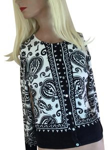 Pierri New York Rayon Sweater Viscose Beaded Rayon Beads And Sequins Cardigan