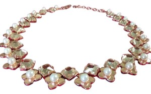 Tory Burch New TORY BURCH rose gold necklace with pearl and crystal accents