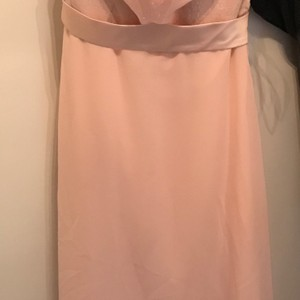 Christina Wu Blush Pink/Rose Gold Sequins Dress