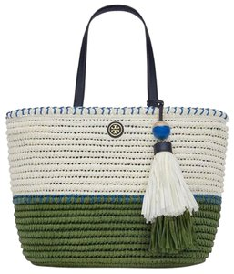 Tory Burch Tote in GREEN NATURAL VINEYARD