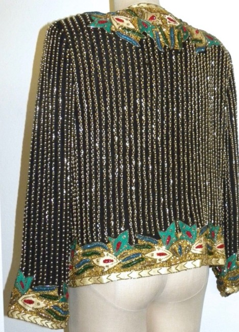Niteline Sequins Beads Evening Night Out Multicolor Jacket