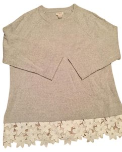 J.Crew Lace-hem Merino Wool Embellished Sweater