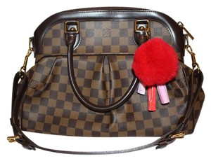 Louis Vuitton Trevi Pm Trevi Satchel in Brown Damier ebene